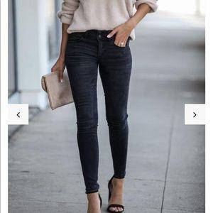 Vervet Black Mid Rise Skinny Jeans NWT
